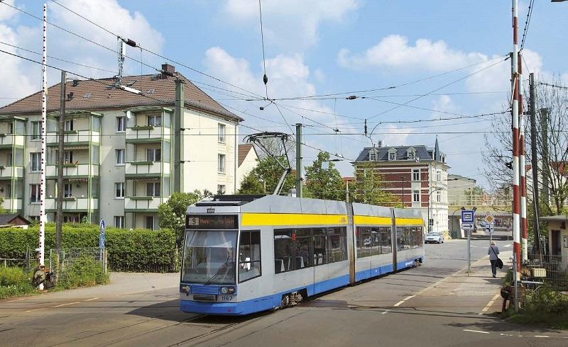 Leipzig Linie 9 Nach Markkleeberg West Vor Dem Aus Strassenbahn